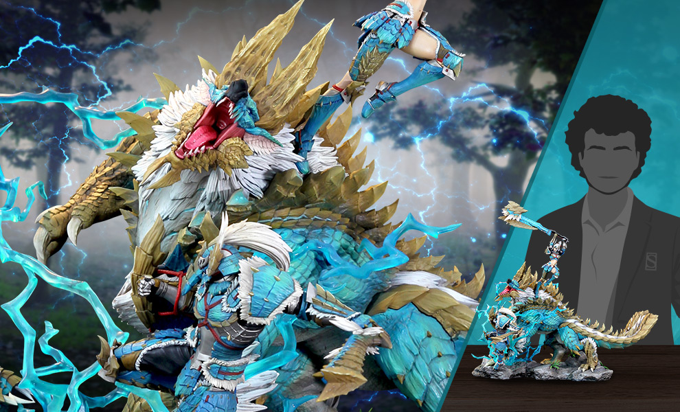 Gallery Feature Image of Zinogre Diorama - Click to open image gallery