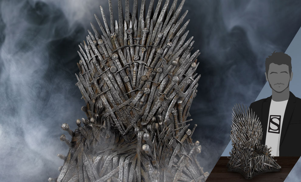 "Gallery Feature Image of Iron Throne 18"" Replica - Click to open image gallery"