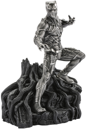 Black Panther Guardian Figurine Pewter Collectible