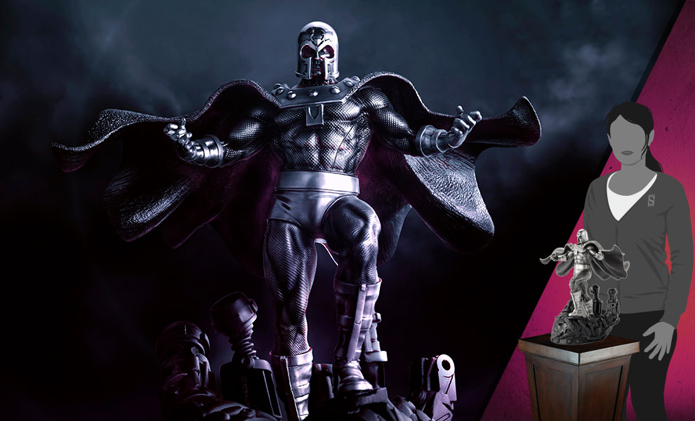 Gallery Feature Image of Magneto Dominant Figurine Pewter Collectible - Click to open image gallery