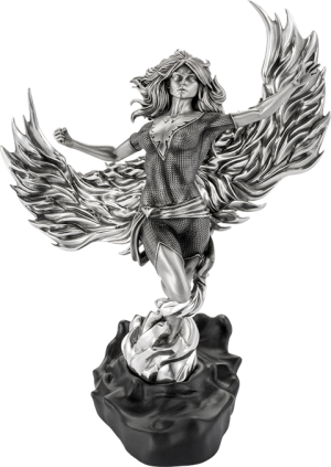 Phoenix Arising Figurine Pewter Collectible