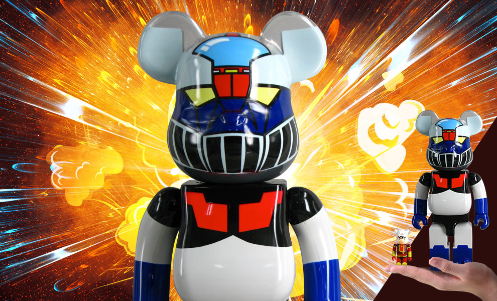 Gallery Feature Image of Be@rbrick Mazinger Z 400% and Koji Kabuto 100% Collectible Set - Click to open image gallery