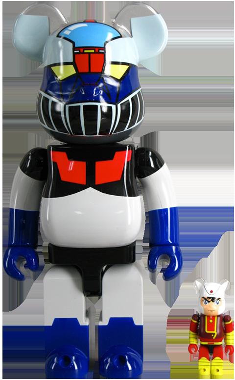 Medicom Toy Be@rbrick Mazinger Z 400% and Koji Kabuto 100% Collectible Set