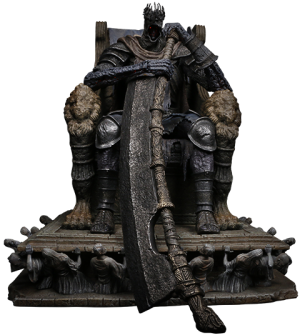 Yhorm on Throne Statue