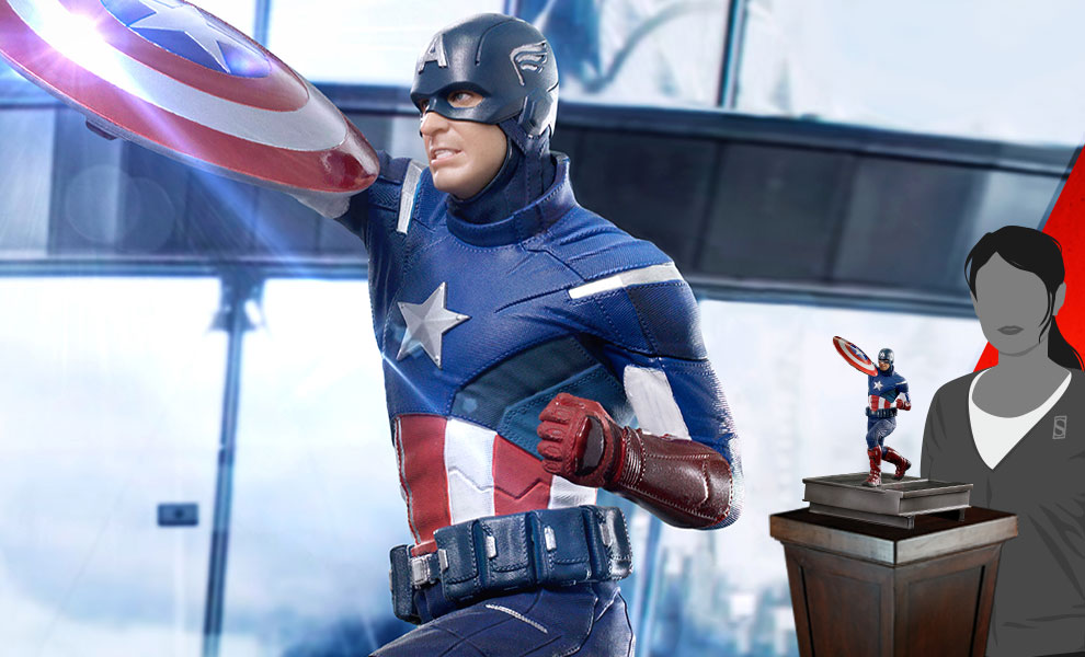 Gallery Feature Image of Captain America 2012 Statue - Click to open image gallery