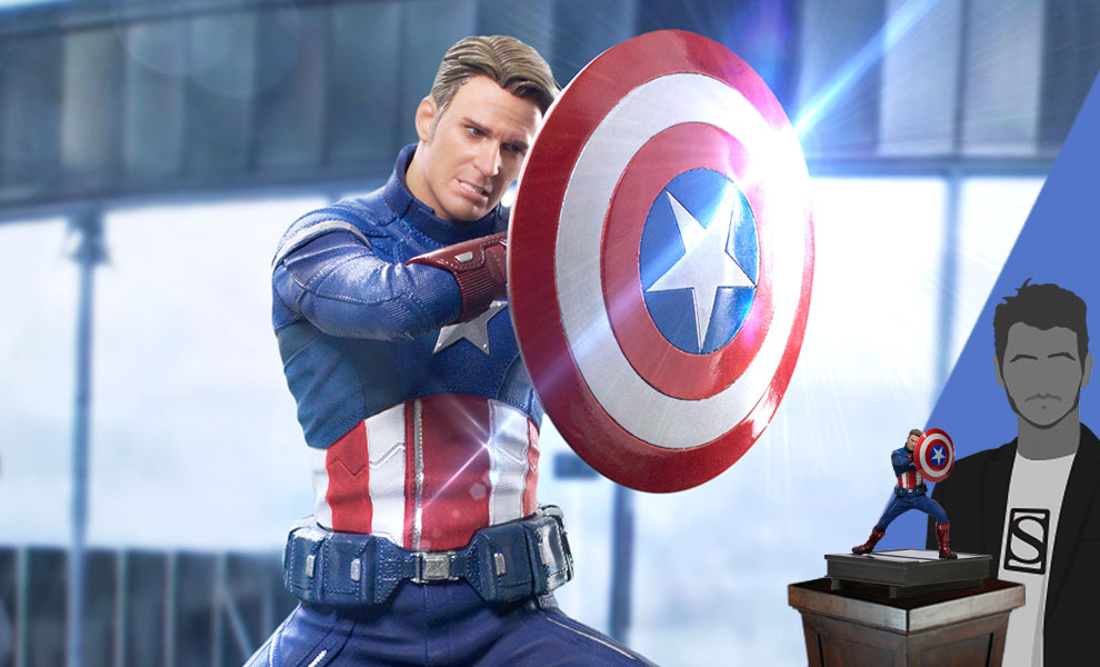 Gallery Feature Image of Captain America 2023 1:10 Scale Statue - Click to open image gallery