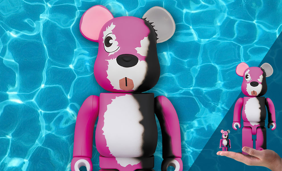 Gallery Feature Image of Be@rbrick Pink Bear 100% and 400% Collectible Set - Click to open image gallery