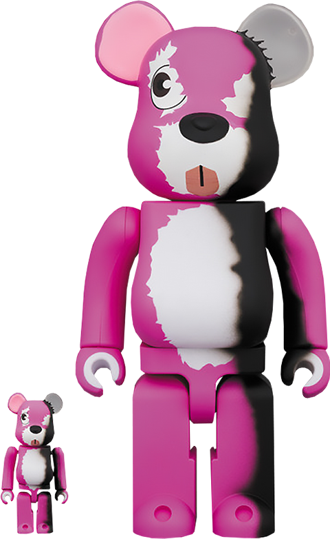 Medicom Toy Be@rbrick Pink Bear 100% and 400% Collectible Set