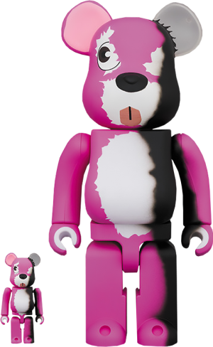 Be@rbrick Pink Bear 100% and 400% Collectible Set