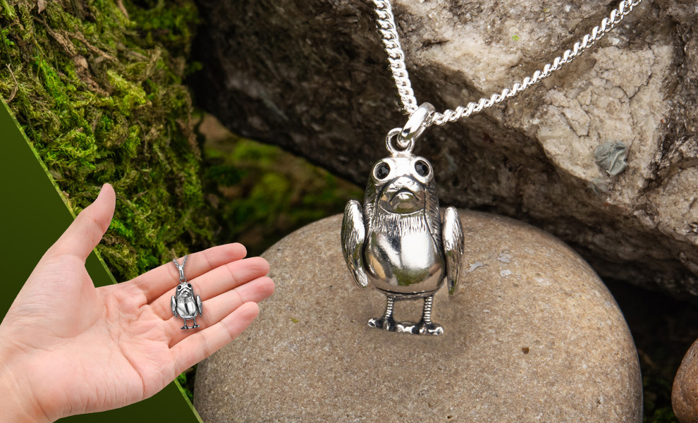 Gallery Feature Image of Porg Necklace Jewelry - Click to open image gallery