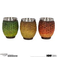 Gallery Image of Drogon, Rhaegal, Viserion Dragon Egg Shot Glasses Collectible Drinkware