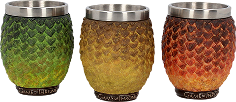 Nemesis Now Drogon, Rhaegal, Viserion Dragon Egg Shot Glasses Collectible Drinkware