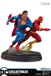 Gallery Image of Superman vs. The Flash Racing Statue