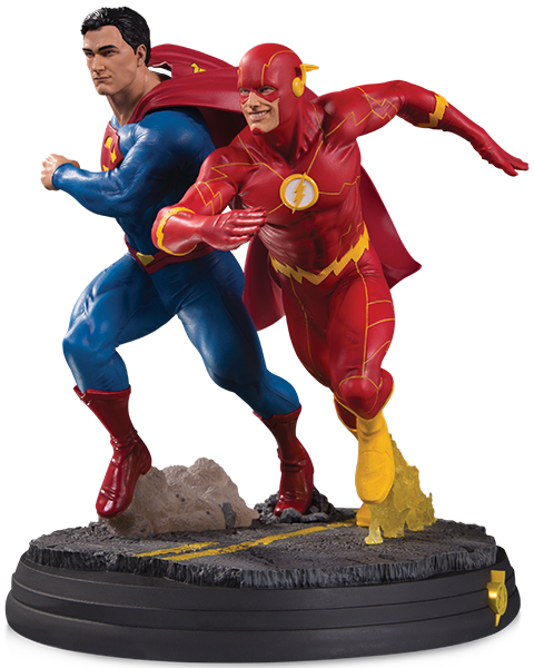 DC Direct Superman vs. The Flash Racing Statue