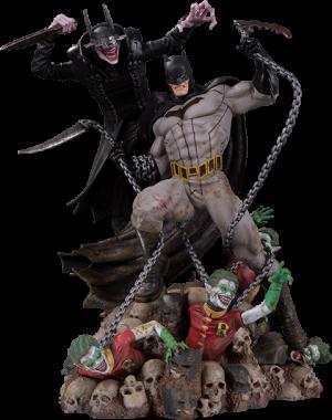 Batman Who Laughs vs Batman Statue