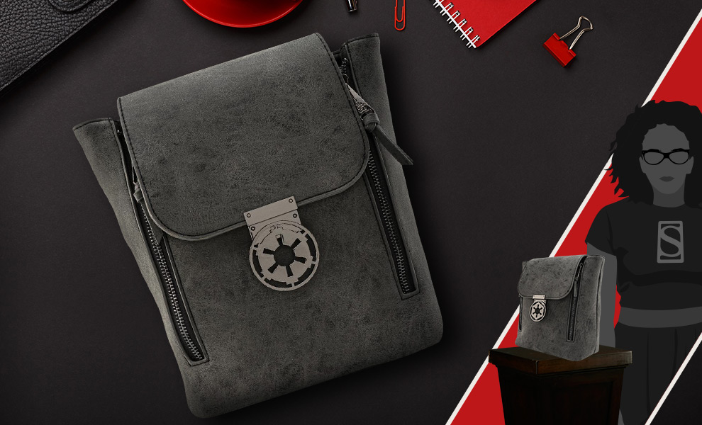 Gallery Feature Image of Star Wars Imperial Metal Closure Convertible Backpack Apparel - Click to open image gallery