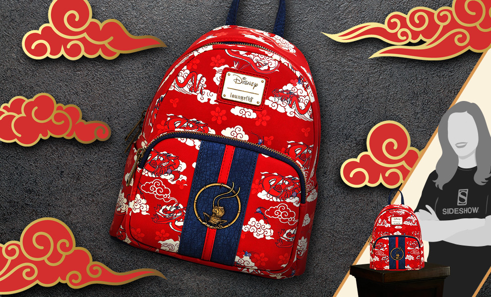 Gallery Feature Image of Mulan Mushu Cloud Mini Backpack Apparel - Click to open image gallery