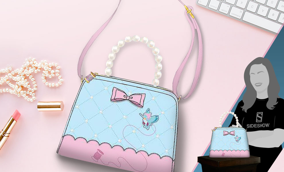 Gallery Feature Image of Cinderella 70th Anniversary Pearl Handle Crossbody Apparel - Click to open image gallery
