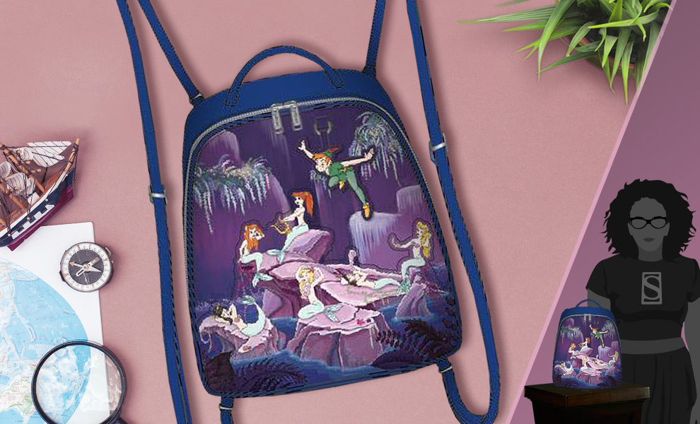 Gallery Feature Image of Peter Pan Mermaids Mini Backpack Apparel - Click to open image gallery