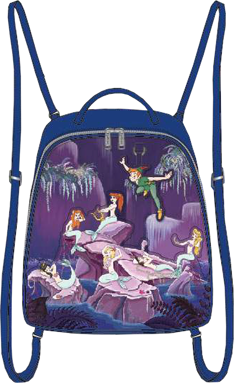 Loungefly Peter Pan Mermaids Mini Backpack Apparel