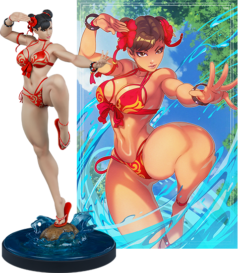 street fighter chun li statue