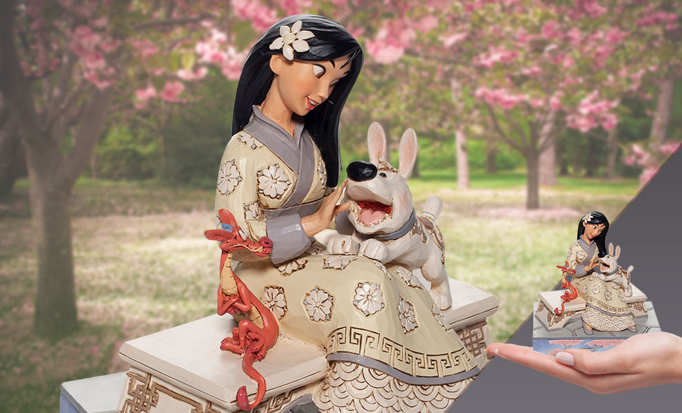 Gallery Feature Image of White Woodland Mulan Figurine - Click to open image gallery