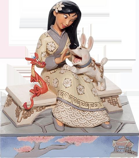 Enesco, LLC White Woodland Mulan Figurine