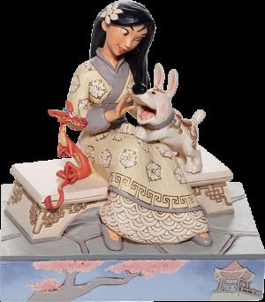 White Woodland Mulan Figurine