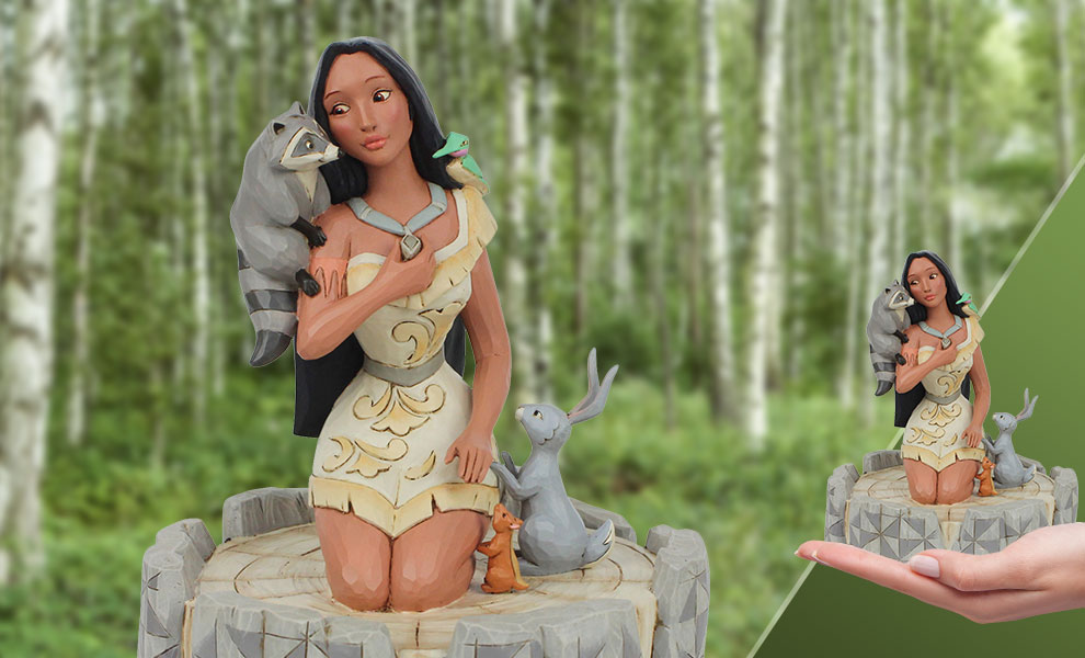 Gallery Feature Image of White Woodland Pocahontas Figurine - Click to open image gallery