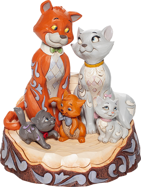 Enesco, LLC Aristocats Carved by Heart Figurine