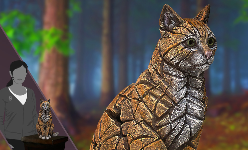 Gallery Feature Image of Cat Edge Sculpture Statue - Click to open image gallery
