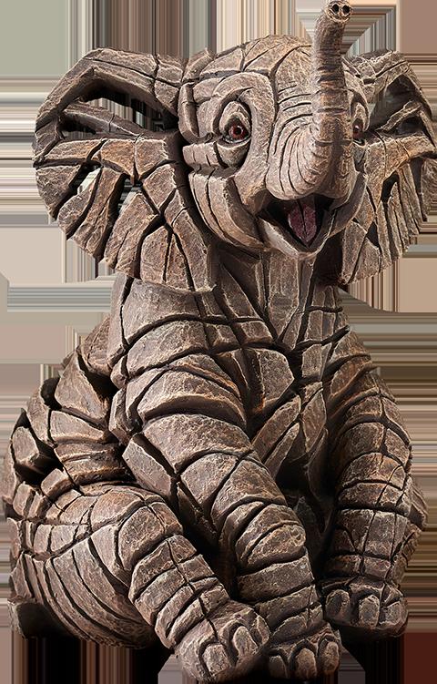 Enesco, LLC Elephant Calf Edge Sculpture Statue
