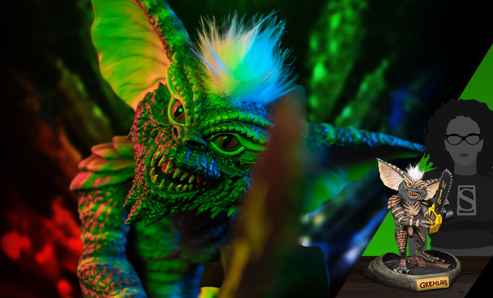 Gallery Feature Image of Gremlins Stripe with Chainsaw Statue - Click to open image gallery