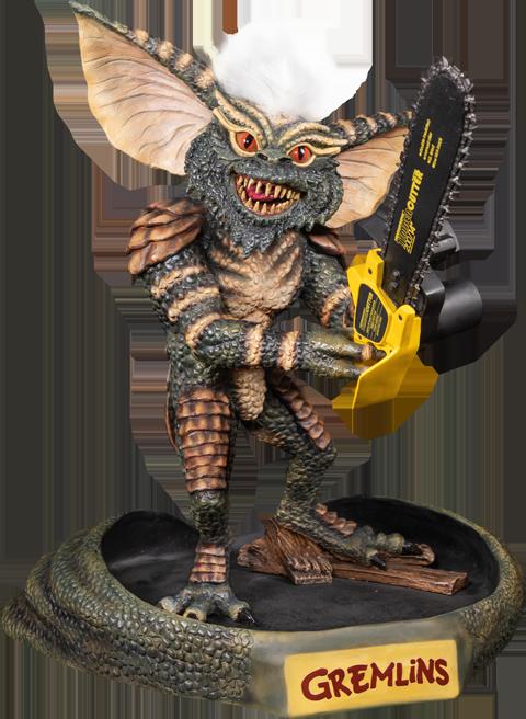 Ikon Design Studio Gremlins Stripe with Chainsaw Statue