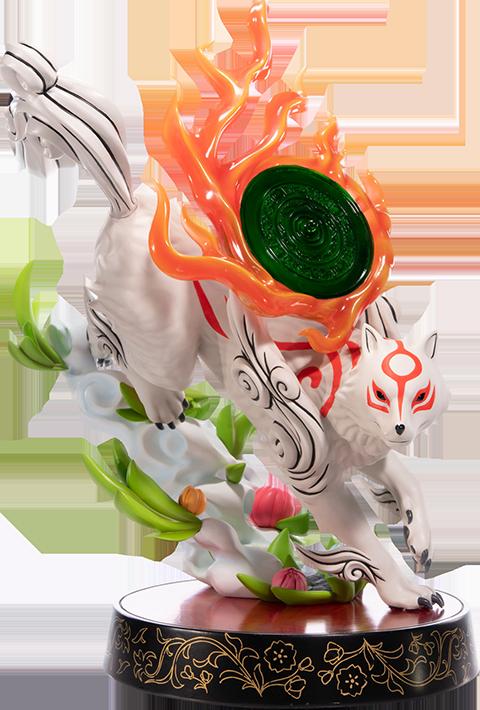 Nine figurine video games okami amaterasu first 4 figures 22cm