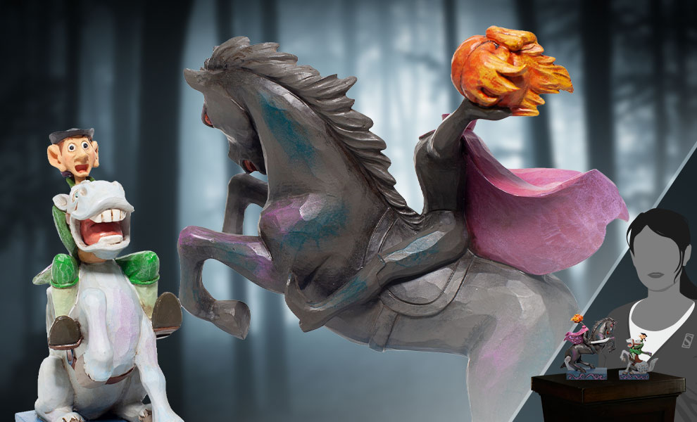 Gallery Feature Image of Headless Horseman & Ichabod Figurine - Click to open image gallery