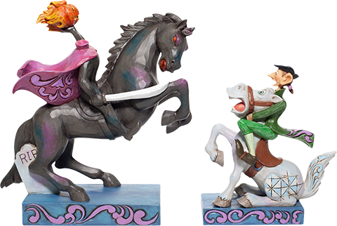Enesco, LLC Headless Horseman & Ichabod Figurine