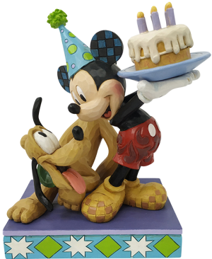 Pluto & Mickey Birthday Figurine