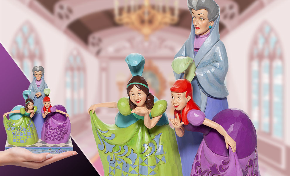 Gallery Feature Image of Lady Tremaine, Anastasia & Drizella Figurine - Click to open image gallery
