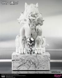 Gallery Image of Sylvester and Tweety White Marble Statue