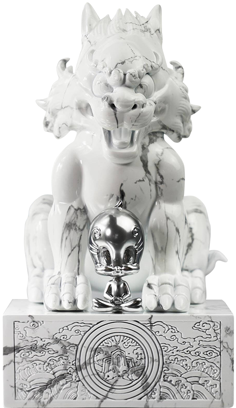 Soap Studio Sylvester and Tweety White Marble Statue
