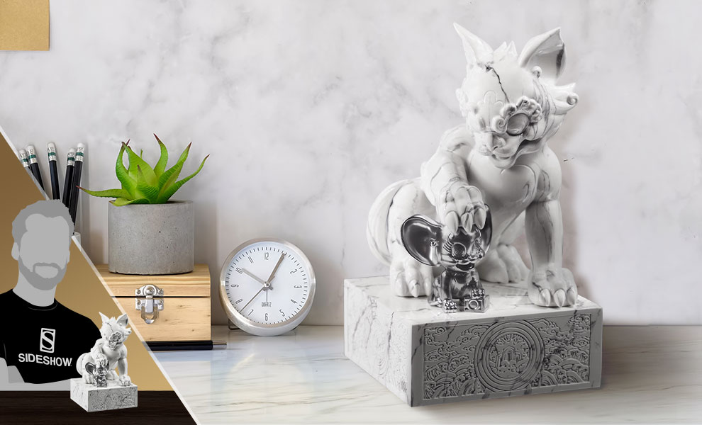 Gallery Feature Image of Tom and Jerry White Marble Statue - Click to open image gallery