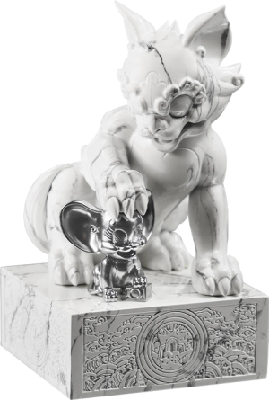 Tom and Jerry White Marble Statue