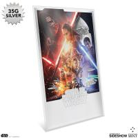 Gallery Image of Star Wars: The Force Awakens Silver Foil Silver Collectible