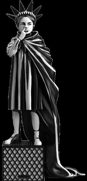 Liberty Girl Polystone Statue