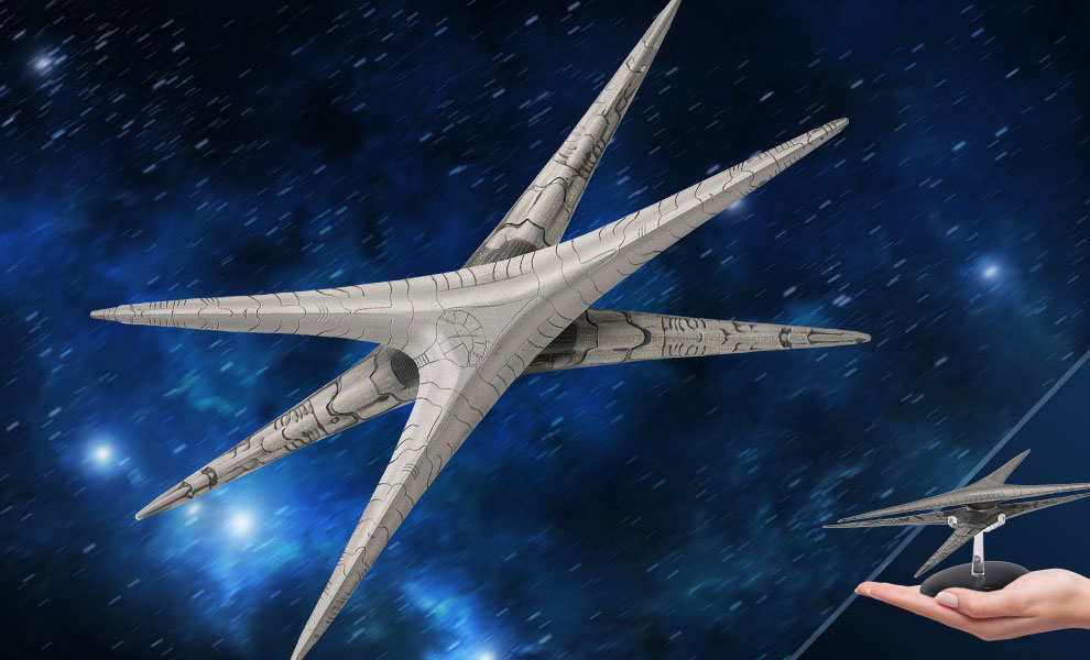 Gallery Feature Image of Modern Basestar Ship Model - Click to open image gallery
