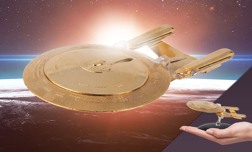 Gallery Feature Image of U.S.S. Enterprise NCC-1707-D (Gold Edition) Model - Click to open image gallery