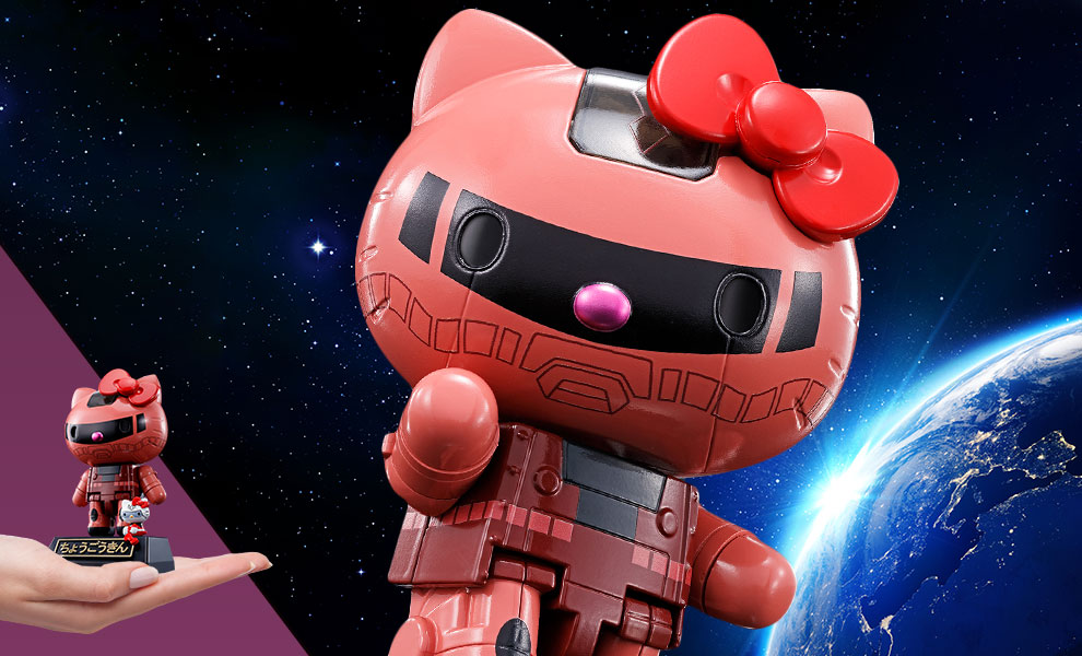 Gallery Feature Image of Gundam Char's Zaku II x Hello Kitty Collectible Figure - Click to open image gallery
