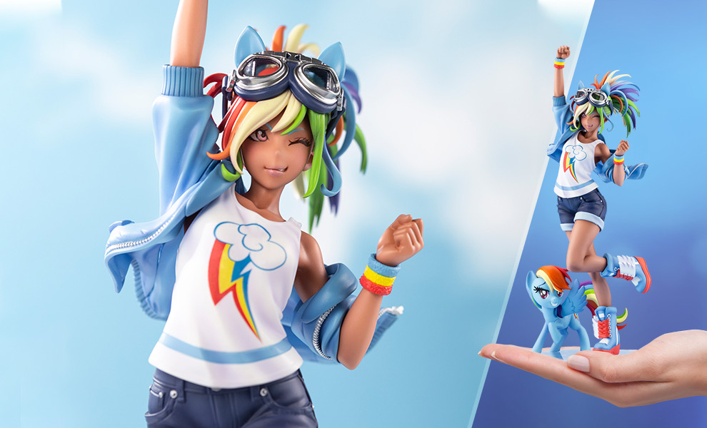 Gallery Feature Image of Rainbow Dash Statue - Click to open image gallery