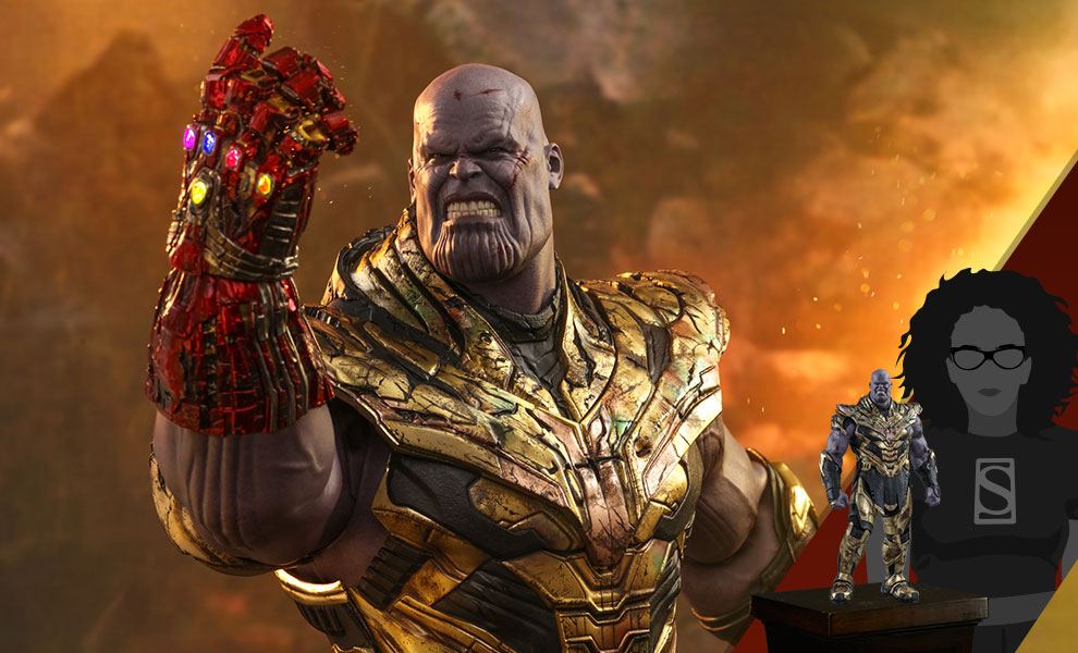 Gallery Feature Image of Thanos (Battle Damaged Version) Sixth Scale Figure - Click to open image gallery